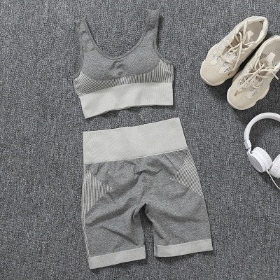 Yoga Clothing Suit High Waist Fitness Shorts Female Yoga Vest Sports Tights Shorts_13