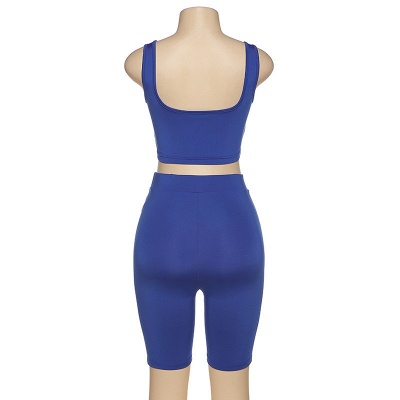 Two piece Women Yoga Sets Quick Dry Sports Suit Fitness Bra Elastic Gym Shorts_8