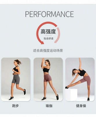 Yoga Shorts Running Shorts Ladies Casual Yoga Outfits Sportswear Fitness Wear_8