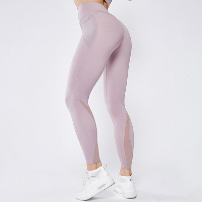 High Quality Fitness Yoga Pants with Pocket | Elastic High Waist Leggings Stretch Breathable Pants_4