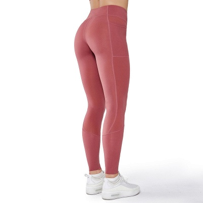 Solid Color High Waist Yoga Pants Sports Legging | Women Full Tights Sports Wear_4