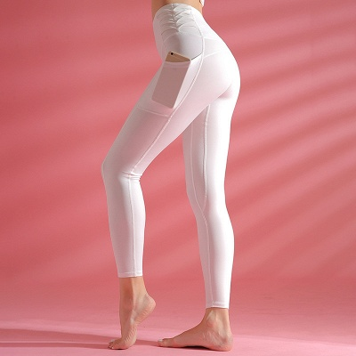 Elastic Breathable Yoga Pants Fitness with Pocket | Gym Yoga Leggings Trousers Quick Dry_2