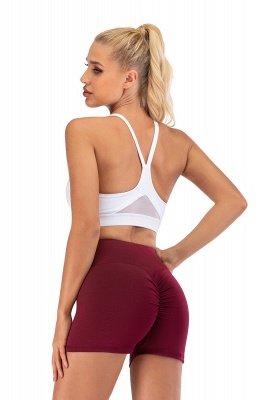 Breathable Shorts Running Gym Sports Yoga Shorts Fitness Workout Activewear_19