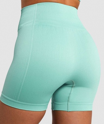 Two Piece Suit Womens Solid Color Fitness Yoga Suit Short Sleeve T-shirt Shorts_22