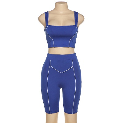 Two piece Women Yoga Sets Quick Dry Sports Suit Fitness Bra Elastic Gym Shorts_6