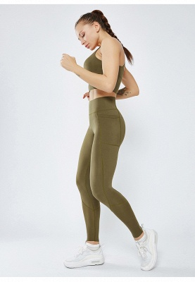 Solid Color High Waist Yoga Pants Sports Legging | Women Full Tights Sports Wear_7