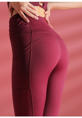 Elastic Breathable Yoga Pants Fitness with Pocket | Gym Yoga Leggings Trousers Quick Dry_8