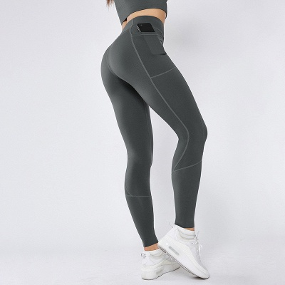 Solid Color High Waist Yoga Pants Sports Legging | Women Full Tights Sports Wear_1
