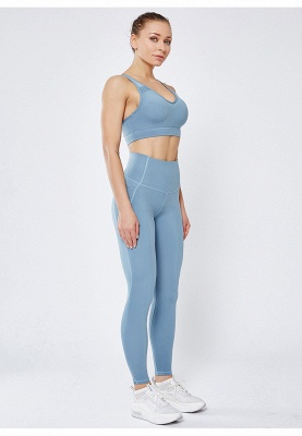 High Quality Fitness Yoga Pants with Pocket | Elastic High Waist Leggings Stretch Breathable Pants_7