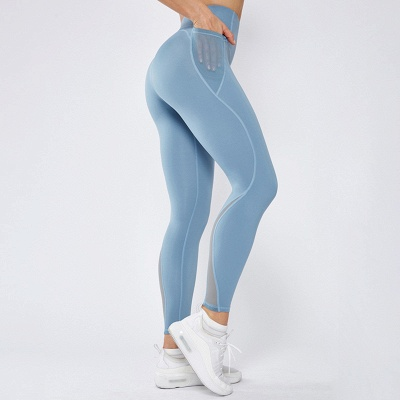 High Quality Fitness Yoga Pants with Pocket | Elastic High Waist Leggings Stretch Breathable Pants_3