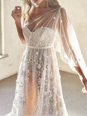 Sexy A-Line Wedding Dresses Sweetheart Lace Sleeveless Bridal Gowns Wedding Dress in Color See-Through Court Train_2