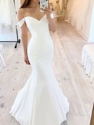 Romantic Sweerthear Mermaid Wedding Dress Off Shoulder Sleeveless Bridal Gowns On Sale