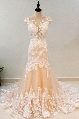 Luxury High Neck Rose Gold Prom Dress With Lace Appliques_1
