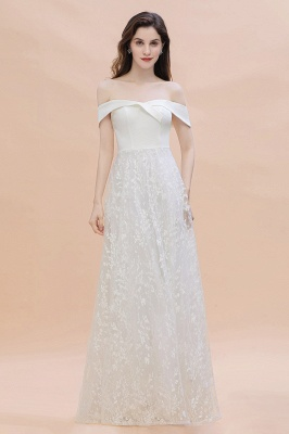 Chic A-Line Off-Shoulder Lace Long Evening Dress in Stock_4