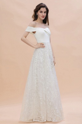 Chic A-Line Off-Shoulder Lace Long Evening Dress in Stock_6