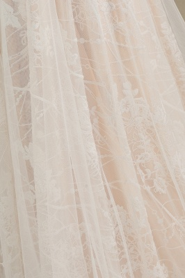 Chic A-line Tulle Lace Wedding Dress | Long Sleeves Ivory Bridal Gowns_8