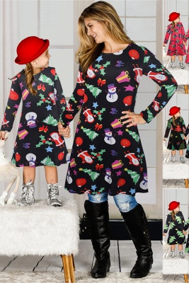 Chic Long Sleeve Christmas Dress SD1018_17