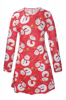 Chic Long Sleeve Christmas Dress SD1018_11