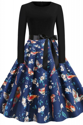 Santa Clause Printed Skirt Christmas Dress SD1010_10