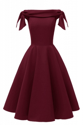 Burgundy Off-the-Shoulder Short Mini Party Dress SD1027