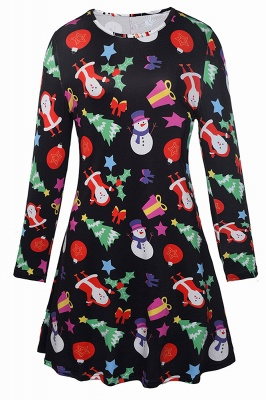 Chic Long Sleeve Christmas Dress SD1018_2