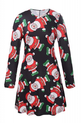 Chic Long Sleeve Christmas Dress SD1018_1