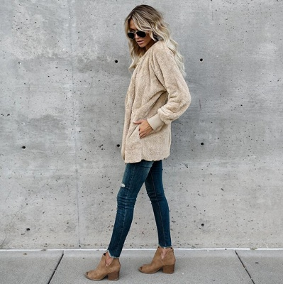 Fashion Solid Color Long Sleeve Outerwear_6
