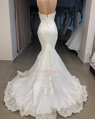 Mermaid Appliques Sweetheart Off-the-shoulder Glorious Wedding Dresses_2