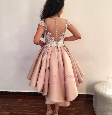 Short Pink Homecoming Dresses | 2020 Cap Sleeves Lace Appliques Party Dress WW0002_4