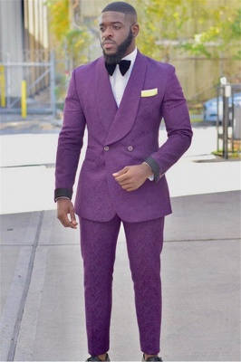 Fashion Suit Slim Fit Groom Tuxedos | Custom Made Prom Suits Men's Suit 2020 SU0010_1
