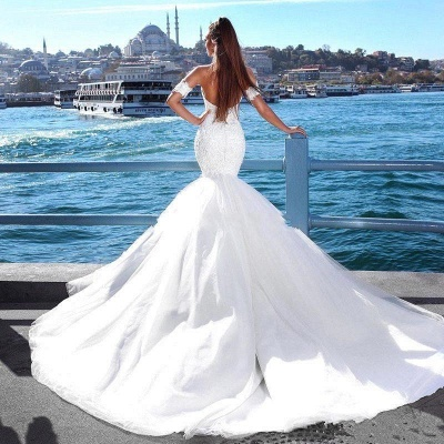 Sexy Mermaid Sweetheart Wedding Dresses | 2020 Lace Open Back Bridal Gowns_3