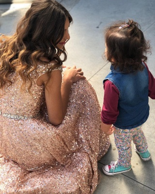 Champagne Pink Sequins Evening Dresses Cheap | Off The Shoulder Sexy Prom Dress 2020 bc1588_2