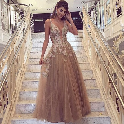 Sexy Lace Appliques Cheap Prom Dresses 2020 | Sleeveless Long Evening Party Dress FB0396_3