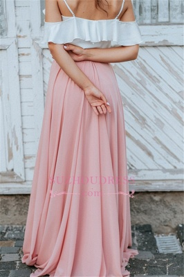 A-line Spaghetti-Straps Backless Floor-Length Elegant Bridesmaid Dresses_3