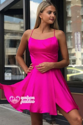 Cocktail Dresses |Short Sweet A-line Halter Homecoming Dresses_2