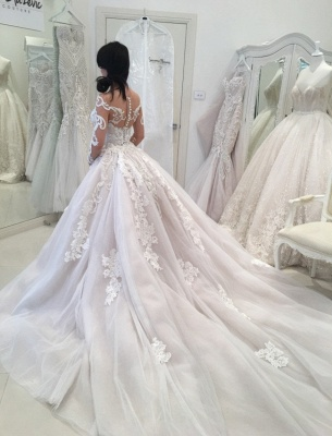 Glamorous Long Sleeves Lace Wedding Dresses 2020 | Sexy Mermaid Bridal Gowns with Detachable Skirt_3