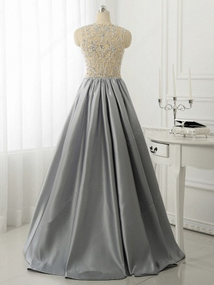 A-line Crystal Sleeveless Evening Dresses New Arrival Floor Length 2020 Prom Gowns_3