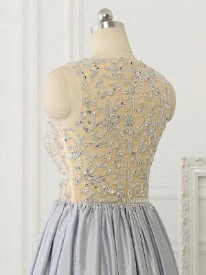 A-line Crystal Sleeveless Evening Dresses New Arrival Floor Length 2020 Prom Gowns_6