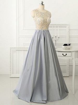 A-line Crystal Sleeveless Evening Dresses New Arrival Floor Length 2020 Prom Gowns_4