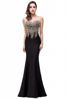 Women's Rhinestone Appliques Sheer Maxi Long Evening Prom Party Dress On Sale_14