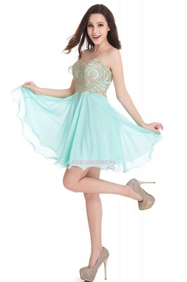 2020 Sweetheart Cheap Mini Short Appliques Homecoming Dresses_9