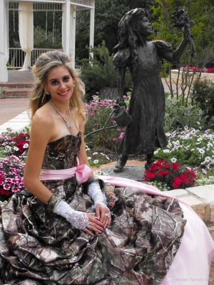 Cute Pink Camo Wedding Dress Sweetheart Drapped Ball Gown Vintage Forest Prom Dresses_4