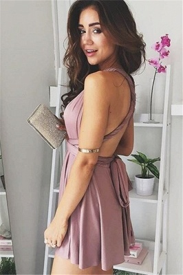 Sexy Deep V-Neck Short Hoco Dresses 2020 A-line Backless Homecoming Dresses BA6634_3