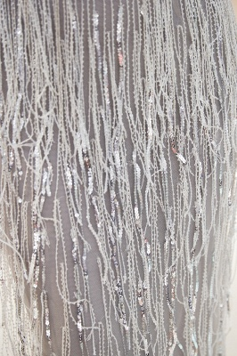 Sexy Silver V-Neck Evening Dresses 2020 | Sequins Sleeveless Sheath Long Formal Gowns_5