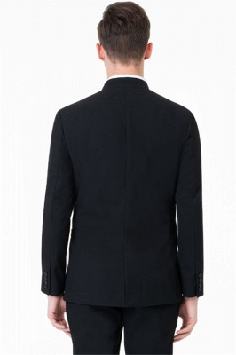 Black Two Button Slim Fit Suit | 2020 Classic Wedding Groom Tuxedos_2