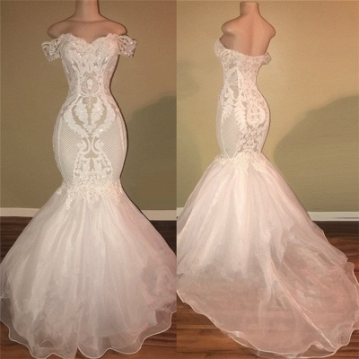 Off The Shoulder Lace Appliques Prom Dresses Cheap | Open Back Sexy Wedding Dresses Online 2020 bc1326_3