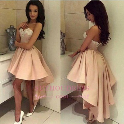 High Front Low Back Party Dress Sweetheart Modern High-low Lace 2020 Homecoming Dress BA6125_2