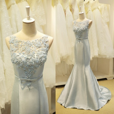 Elegant Lace Mermaid Prom Dress with Beadings New Arrival Bowknot Zipper Formal Occasion Dress_5