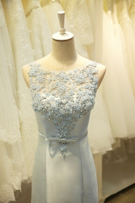 Elegant Lace Mermaid Prom Dress with Beadings New Arrival Bowknot Zipper Formal Occasion Dress_4