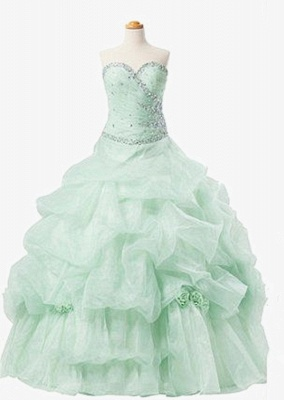 Elegant Sweetheart Crystal Ball Gown Quinceanera Dress Floor Length Tiered Custom Made Dresses with Beadings_3